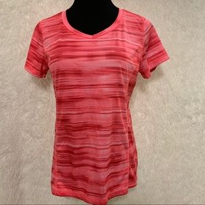 Made For Life Pink V-Neck Quick Dry Athletic Shirt